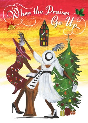 When the Praises Go Up Christmas Cards, African American, 15 Cards  -