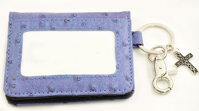 Wallet, Keychain, Cross, Ostrich, Blue  -