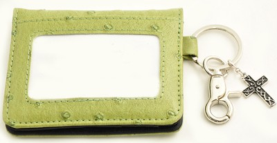 Wallet, Keychain, Cross, Ostrich, Green  -