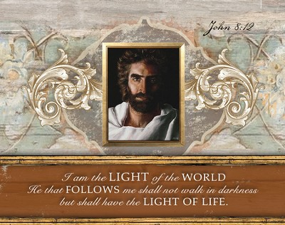 Prince Of Peace, I Am the Light Of the World, Mini Framed Art  -     By: Akiane Kramarik