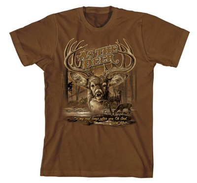 As the Deer II Shirt, Brown, Extra Large  -
