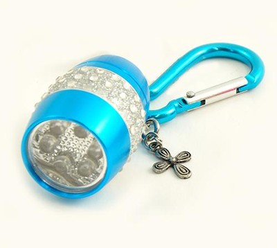 Flashlight, Cross, Bling, Blue  -