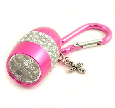 Flashlight, Cross, Bling, Pink  -