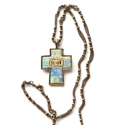Hope Cross Necklace  -     By: Kelly Rae Roberts