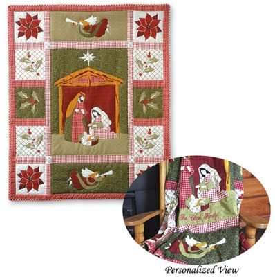 Christmas Nativity Throw   -