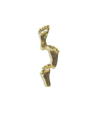 Footprints Lapel Pin, Gold Plated  -