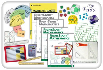 Rightstart Mathematics: Starter Kit Level D With AL Abacus Junior  -