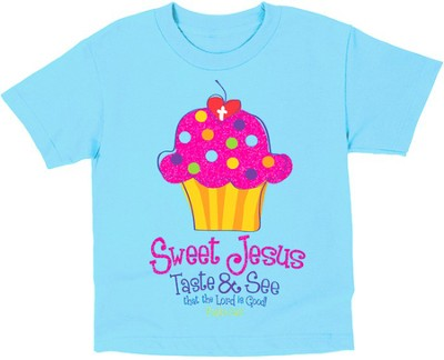 Sweet Cupcake Shirt, Blue, Youth Large  -