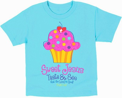 Sweet Cupcake Shirt, Blue, Youth Small  -