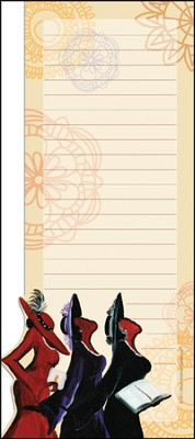 Three Ladies Magnetic Notepad  -