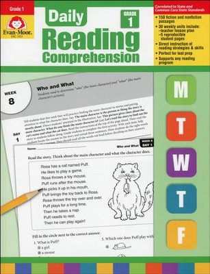 Daily Reading Comprehension, Grade 1  -