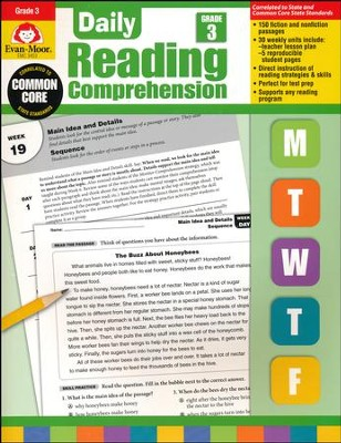 Daily Reading Comprehension, Grade 3  -