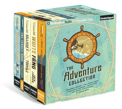 Adventure Collection: Treasure Island Jungle Book, Gulliver's Travels, White Fang Merry Adventures of Robin Hood - unabridged audiobook on CD  -     By: Jonathan Swift, Jack London, Rudyard Kipling
