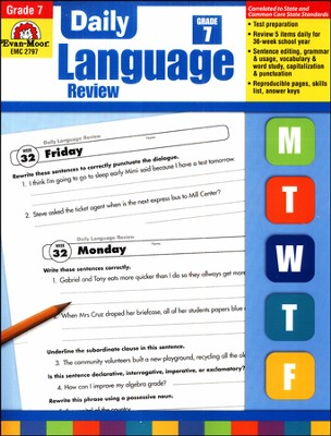 Daily Language Review, Grade 7  -