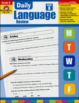 Daily Language Review, Grade 8  -