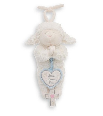 Musical Pull Down Lamb, Blue  -