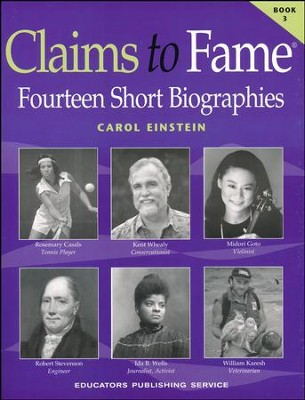 Claims to Fame Book 3   -     By: Carol Einstein
