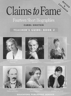 Claims to Fame Teacher's Key                    -     By: Carol Einstein