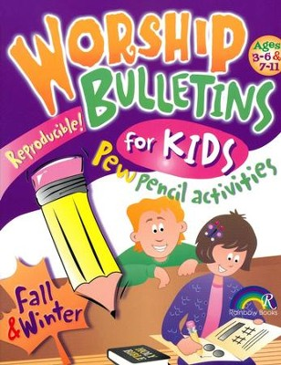 Worship Bulletins for Kids: Fall and Winter   -