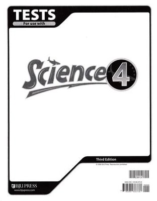 BJU Science Tests Grade 4 (Third Edition)    -