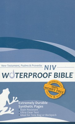 NIV Waterproof Bible New Testament with Psalms and Proverbs, Blue Wave 1984  -
