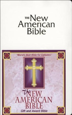 NAB Gift & Award Bible--Imitation Leather, White   -