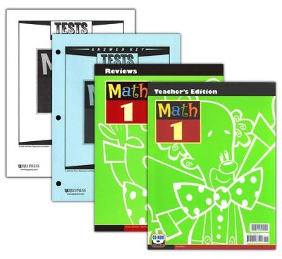 BJU Math Grade 1 Homeschool Kit, Third Edition    -