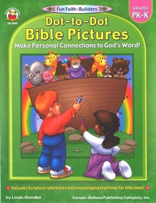 Dot-to-Dot Bible Pictures Gr PK-K  -     By: Linda Standke