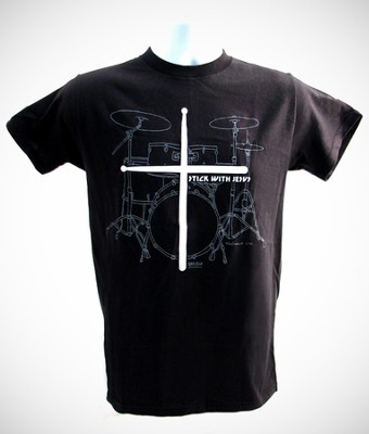 Stick With Jesus Shirt, Black, Medium  -