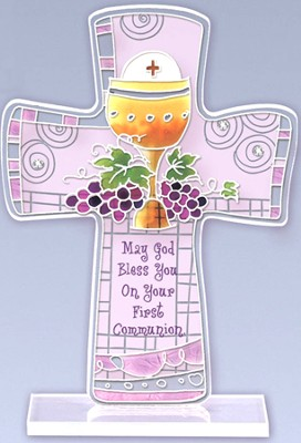May God Bless You on Your First Communion Cross  -