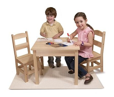 Wooden Table & Chairs Set  -