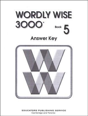 Wordly Wise 3000, Grade 5, Answer Key for Student Text  -
