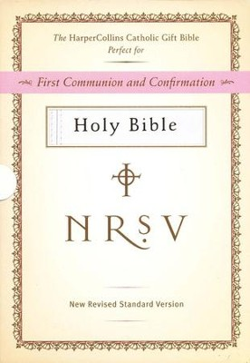 HarperCollins Catholic Gift Bible, White: First Communion and Confirmation  -