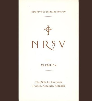NRSV XL-Print Bible--imitation leather, brown   -