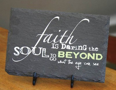 Faith Slate Plaque with Easel  -