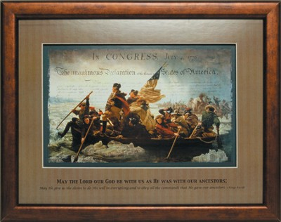 Crossing the Delaware Framed Print  -
