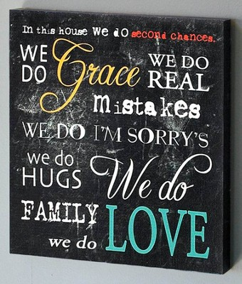 In This House We Do Grace Canvas Wall Art  -