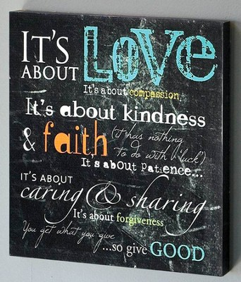 It's About Love Canvas Wall Art  -