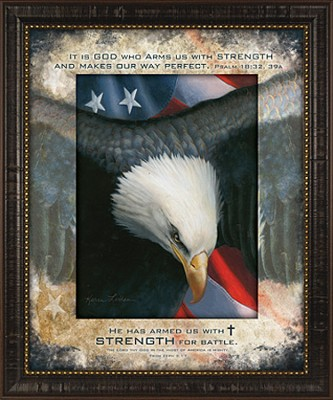 He Has Armed Us With Strength for Battle Framed Print  -