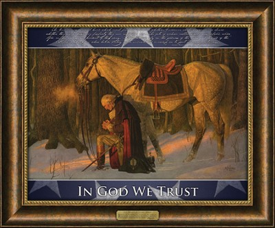 The Prayer at Valley Forge--Framed Art   -     By: Arnold Friberg