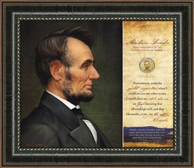 Abraham Lincoln, Nevertheless, Framed Art  -     By: Ken Corbett
