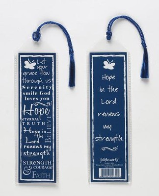 Hope Bookmark, Blue  -     By: Miriam Hahn