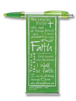Faith Banner Pen, Green  -     By: Miriam Hahn