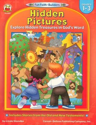 Hidden Pictures Explore Hidden Treasures in God's Word Grades 1-3  -     By: Linda Standke