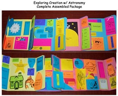 Exploring Creation with Astronomy Lessons 7-14 Lapbook (Assembled)  -     By: Cyndi Kinney