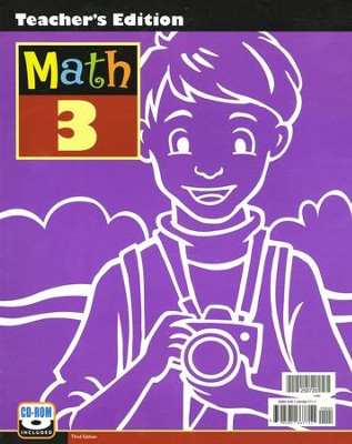 BJU Math Grade 3 Teacher's Edition with CD-ROM, Third Edition    -