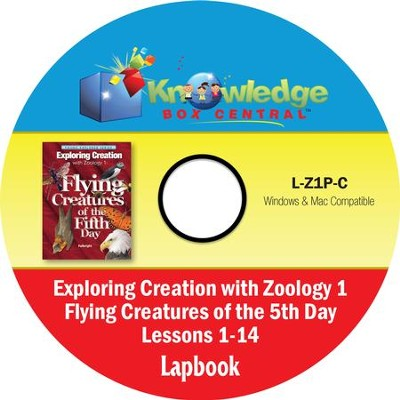 Apologia Exploring Creation with Zoology 1: Flying Creatures of the 5th Day Lapbook Package (Lessons 1-14) PDF CD-ROM   -