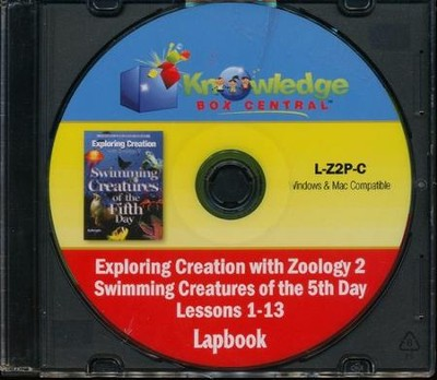 Exploring Creation with Zoology 2: Swimming Creatures of the 5th Day Lapbook Package (Lessons 1-13) CD-Rom  -