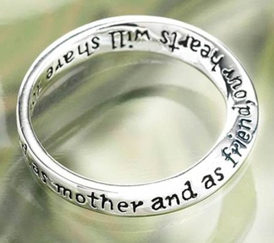 Dear Mom, You Always Will Be Cherished Ring, Size 9  -