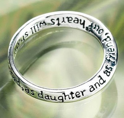 Dear Daughter, You Always Will Be Cherished Ring, Size 9  -
